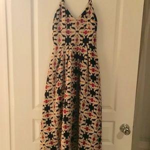 H&M Print Tea Length Dress